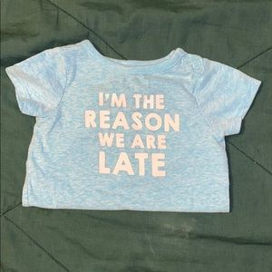 """""""I'm the reason we are late"""" Onesie"""